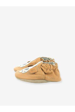 ROBEEZ Bebé Zapatillas deportivas - Zapatillas patucos de piel ligera para bebé Sweety Dog © claro liso con motivos