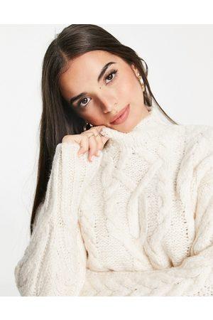 Lipsy Mujer Cuello alto - Jersey de cuello alto de punto de ochos de - neutro