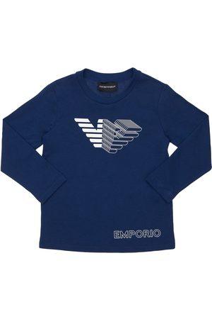 Emporio Armani | Niño Camiseta De Jersey De Algodón Estampada 8a
