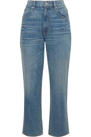 """SLVRLAKE   Mujer Jeans Rectos """"london"""" De Con Cintura Alta 24"""