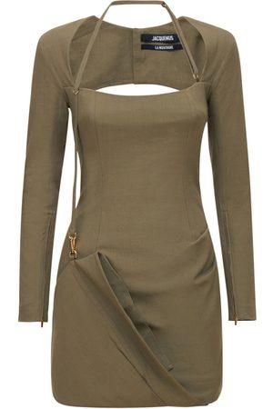 Jacquemus | Mujer Vestido Mini La Robe Esca De Mezcla De Viscosa 32