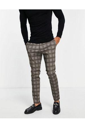 JACK & JONES Pantalones a cuadros gris claro de Intelligence