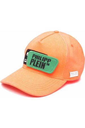 Philipp Plein Gorra con parche del logo y efecto envejecido