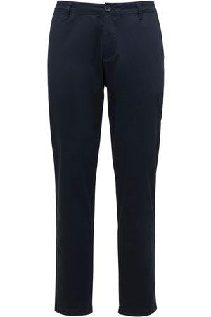 Armani | Hombre Pantalones De Sarga Algodón Stretch 33