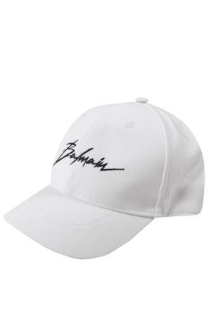 Balmain Boys Sketched Logo Cap White - WHITE 4