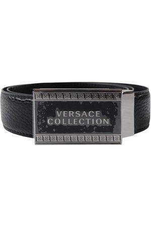 VERSACE Logo Plaque Belt - BLACK 32