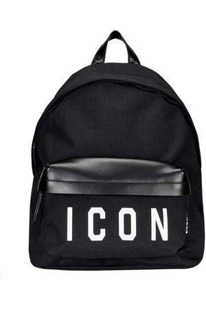 Dsquared2 Men's Nylon ICON Backpack Black - BLACK ONE SIZE