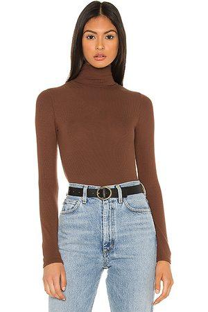 N:philanthropy Bodysuit cuello vuelto brooke en color marrón talla L en - Brown. Talla L (también en XS, S, M).
