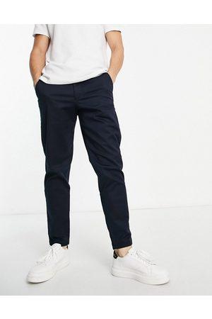 SELECTED Hombre Pantalones chinos - Chinos azul marino de corte slim tapered de