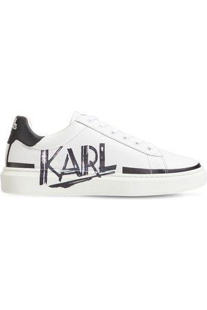 Karl Lagerfeld | Niño Sneakers De Piel Con Cordones Y Logo 35