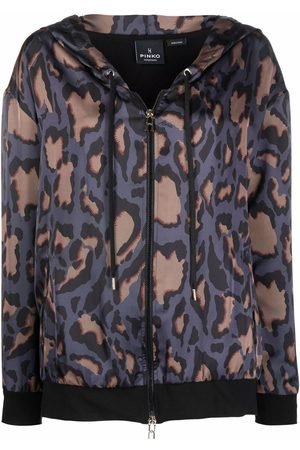 Pinko Camouflage pattern hooded jacket