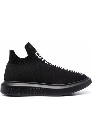 Love Moschino Zapatillas estilo calcetín con logo