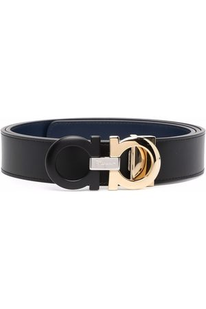 Salvatore Ferragamo Hombre Cinturones - Double Gancini leather belt