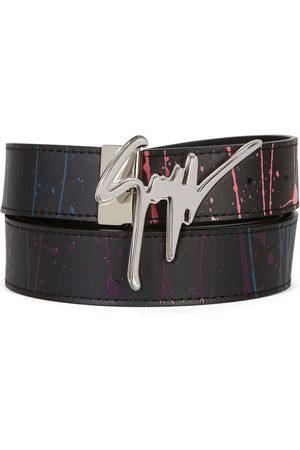 Giuseppe Zanotti Hombre Cinturones - Cinturón con hebilla del logo