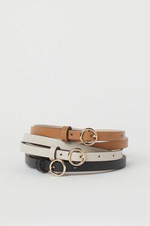 H&M Pack de 3 cinturones finos