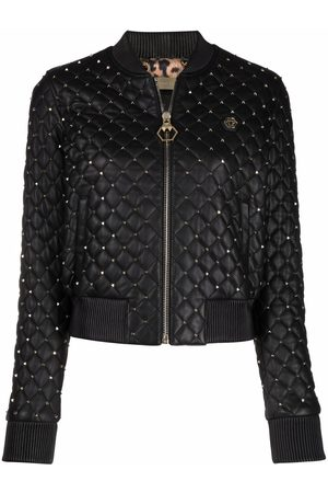 Philipp Plein Mujer Bomber - Quilted studded bomber jacket