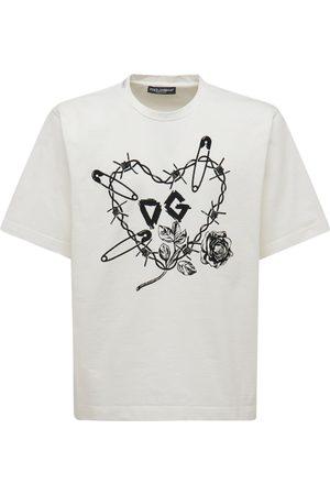 Dolce & Gabbana | Hombre Camiseta Heart De Algodón Con Estampado 44