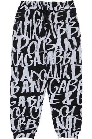 Dolce & Gabbana   Niño Pantalones Deportivos De Algodón Con Logo /blanco 6a