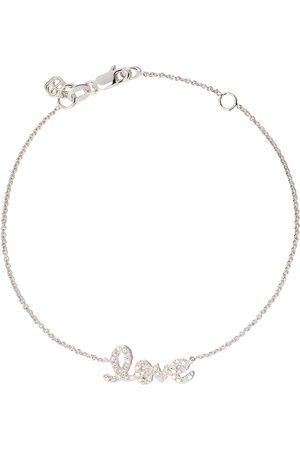Sydney Evan Pulsera Love en oro blanco de 14kt con diamantes