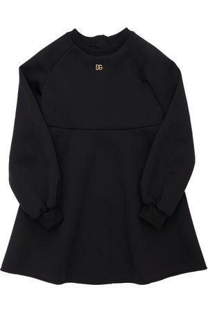 Dolce & Gabbana | Niña Vestido De Neopreno Con Logo 8a