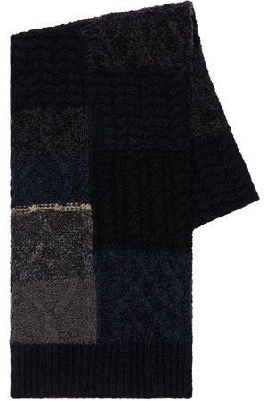 Dolce & Gabbana | Hombre Bufanda Patchwork De Mezcla De Lana Virgen /gris Unique