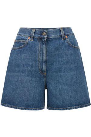Gucci | Mujer Shorts De Denim Con Cintura Alta /mix 24