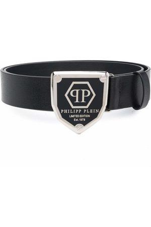 Philipp Plein Cinturón con placa del logo