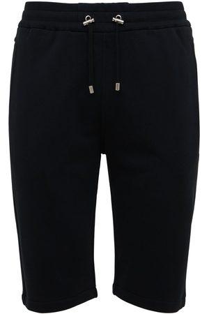 Balmain Hombre Pantalones cortos - | Hombre Flocked Logo Organic Cotton Sweat Shorts /blanco S