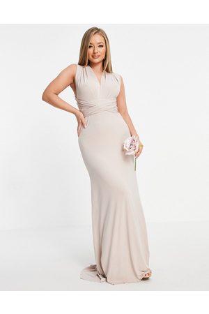 TFNC Vestido de dama de honor largo multiposición de