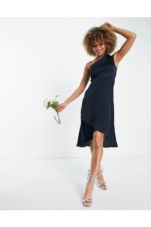 TFNC Mujer Asimétricos - Vestido de dama de honor midi asimétrico de