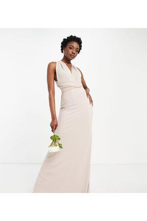 TFNC Mujer Largos - Vestido de dama de honor largo con diseño multiposición de
