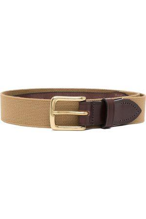 Anglozine Cinturón con ribete de piel