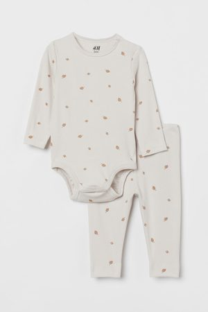 H&M Niño Conjuntos de ropa - Conjunto en canalé de algodón