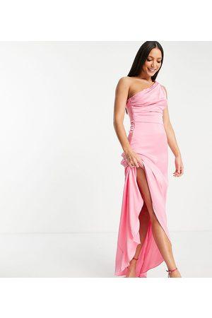 TFNC Mujer De noche - Vestido de dama de honor largo asimétrico de