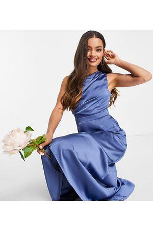 TFNC Mujer Asimétricos - Vestido de dama de honor largo asimétrico de
