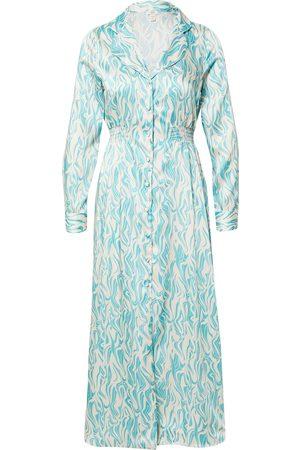 River Island Vestido camisero 'V NECK BLUE PRINT DRESS
