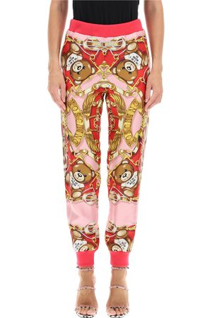 Moschino Silk jogger pants with foulard print , Mujer, Talla: 40 IT