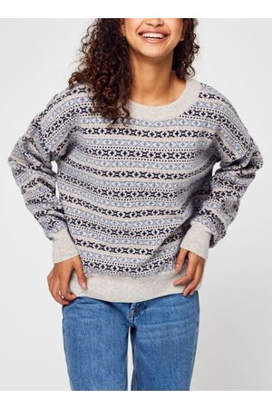 Knowledge Cotton Apparal MYRTHE Lambswool Pattern Boxy Crew Neck - GOTS