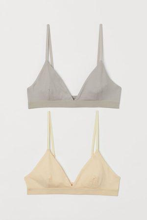 H&M Mujer Sujetadores - Pack 2 sujetadores de algodón