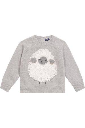 Il gufo Bebé - jersey de punto de lana con adorno