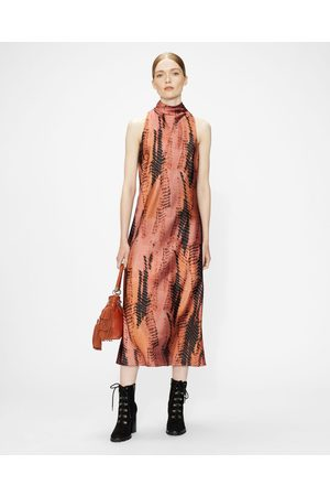 Ted Baker High Neck Printed Sleeveless Midi Dress