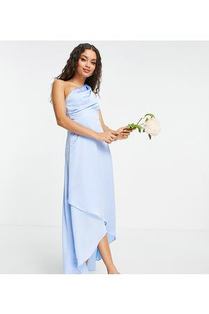 TFNC Petite Vestido de dama de honor largo asimétrico de