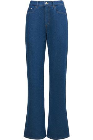 Wandler   Mujer Jeans Anchos De Tiro Medio Daisy De Algodón 25