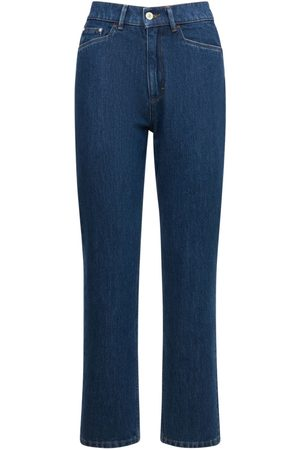 Wandler Mujer Cintura alta -   Mujer Jeans Rectos Carnation De Tiro Medio 25