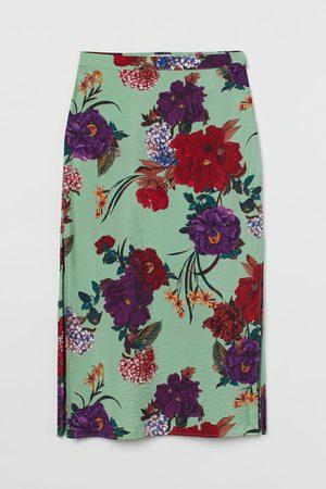 H & M Mujer Faldas - Falda de satén con aberturas