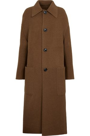 Ami Abrigo de lana de botonadura simple