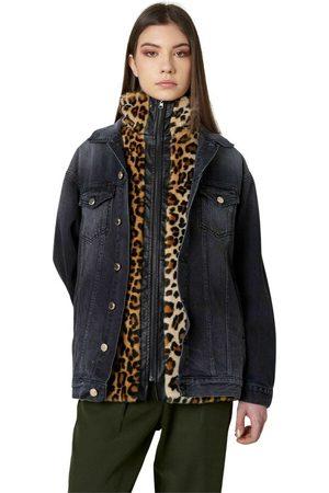 Silvian Heach Giacca in jeans con fodera in pelliccia , Mujer, Talla: 42