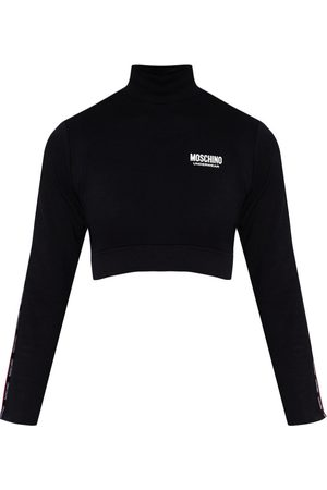 Moschino Cropped top with mock neck , Mujer, Talla: M