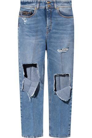 VERSACE 71Hab 5Te-Dw 00904M Cropped jeans , Mujer, Talla: W29