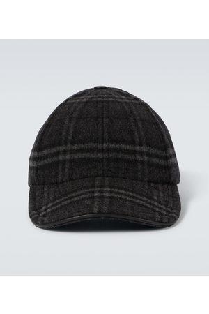 Burberry Hombre Gorras - Gorra de cuadros en lana y cachemir